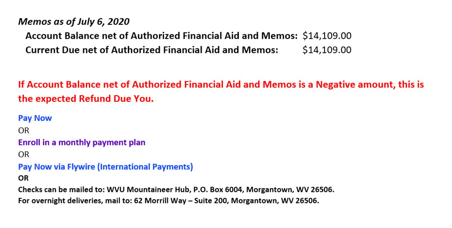 Orientation Student Financial Services West Virginia University